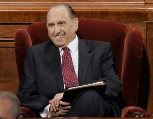 Thomas S. Monson is the Lord's mouthpiece on earth today.