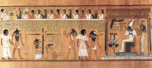 The weighing of the heart in Egyptian lore is similar to how our hearts will be put in the balance