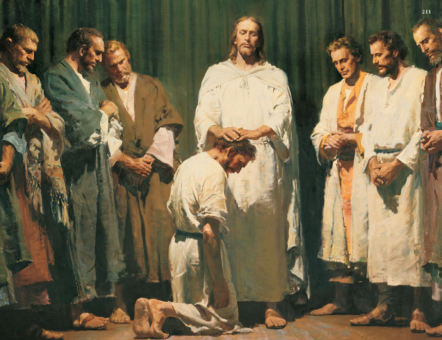 Jesus Christ ordaining the Twelve Apostles