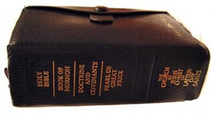 Mormon scriptures include the Holy Bible, the Book of Mormon, Doctrine and Covenants, and the Pearl of Great Price